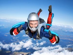 Fallschirmsprung im Pep Urlaub