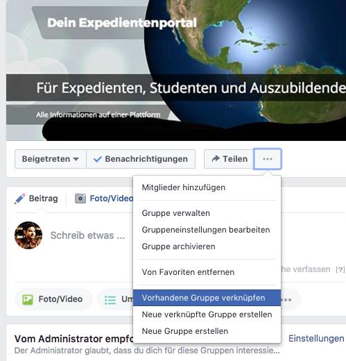 Facebook Gruppen verknüpfen
