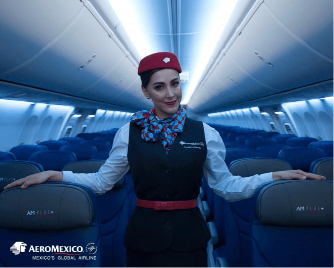 Mexiko, Stewardess, Aeromexico